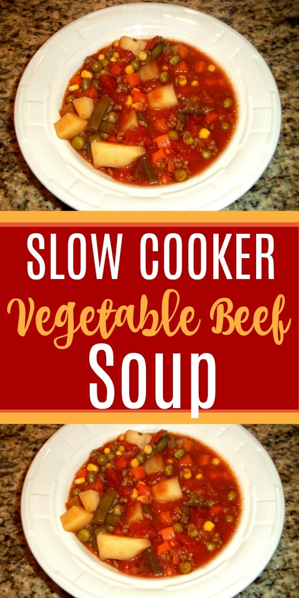 low Cooker Vegetable Beef Soup Recipe