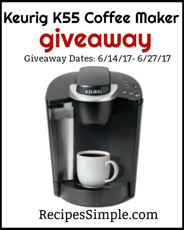 Keurig Coffee Maker Giveaway : Keurig K55 Coffee Maker Giveaway