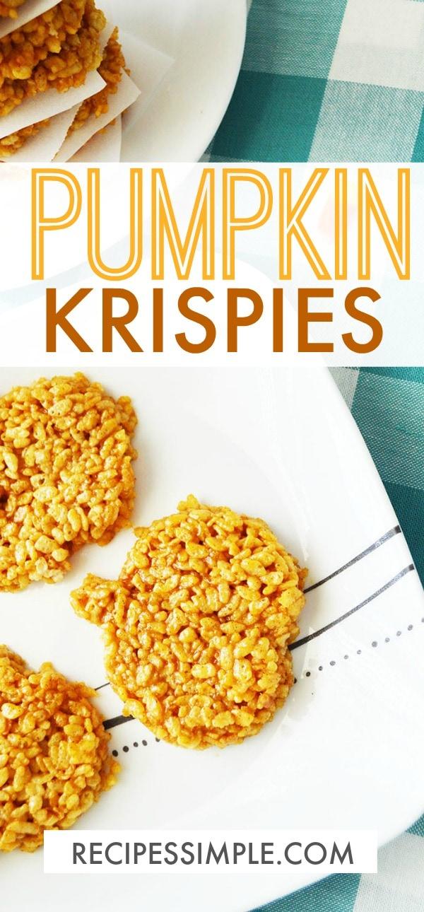 Pumpkin Krispies Treats #pumpkin #dessert #pumpkinspice