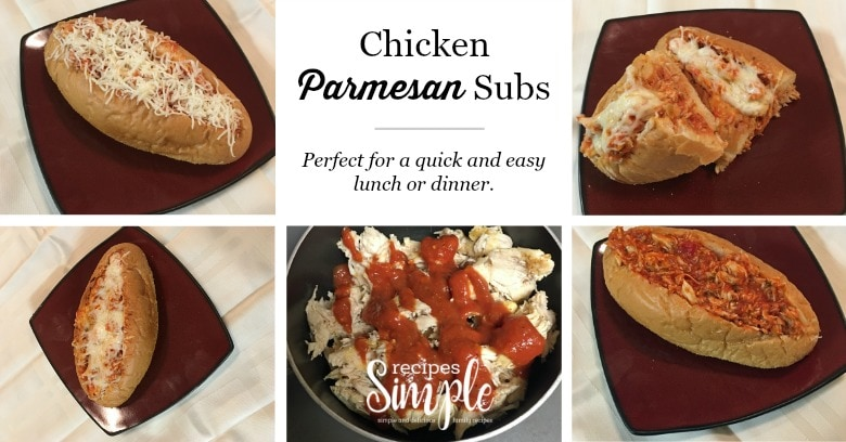 Chicken Parmesan Subs