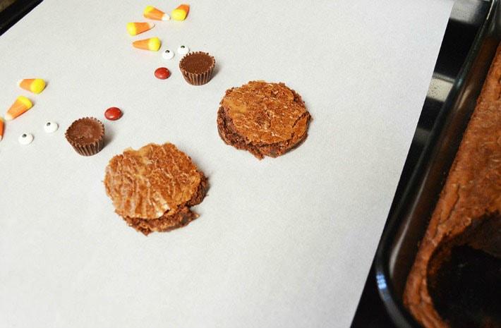 Turkey Brownies preparation