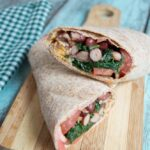 Sauteed Spinach and Red Bean Wrap