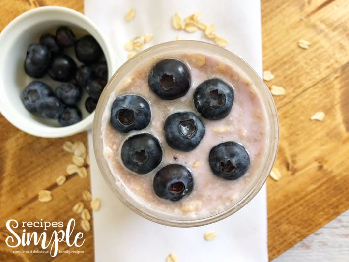 Overnight Blueberry Oats In Jar Recipe