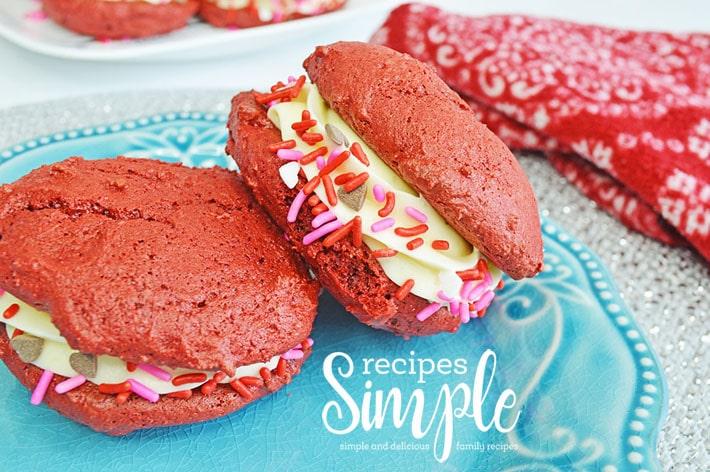 Red Velvet Valentines Cookies