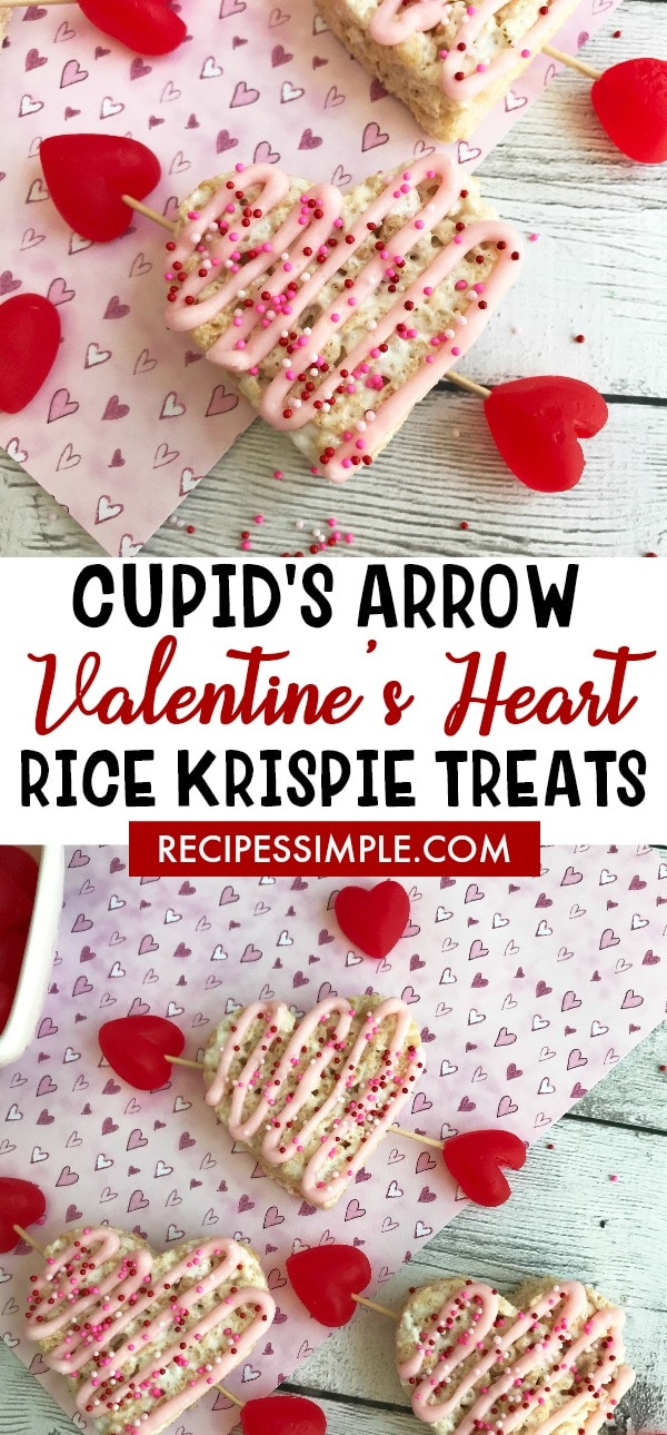 Valentines Heart Cupid Rice Krispie Treats