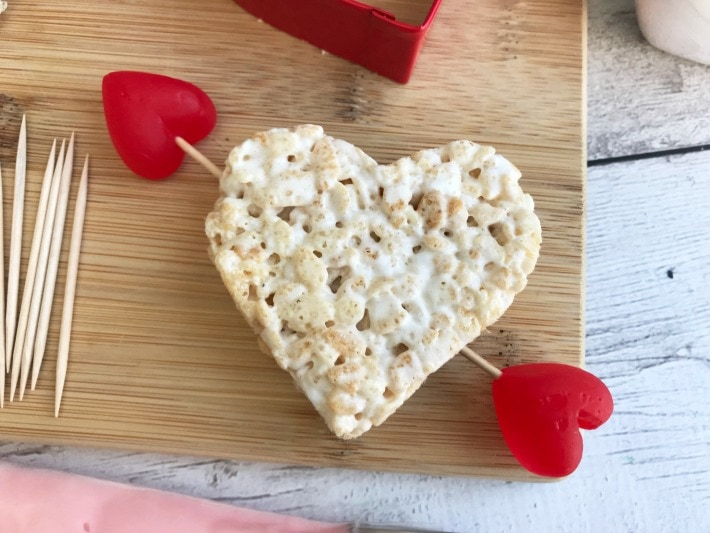 Valentines Heart Rice Krispie Treat
