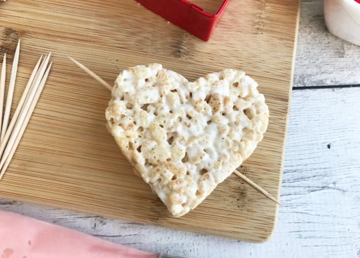 Valentines Rice Krispie Treat Heart