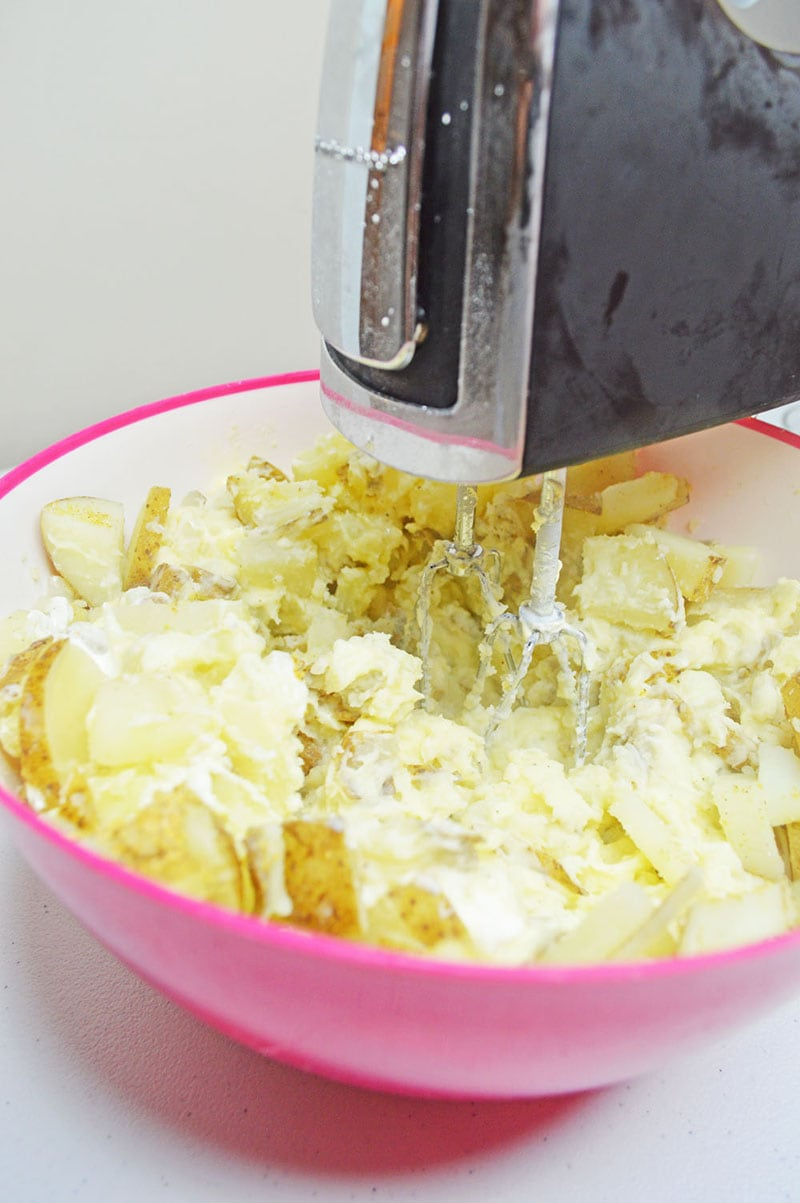 Loaded Mashed Potato Mixing