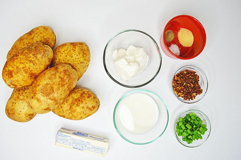 Loaded Mashed Potato ingredients