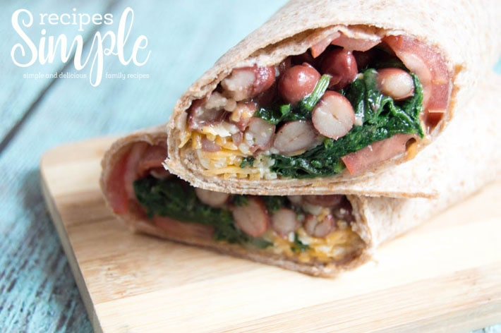 Spinach and Red Beans Wraps