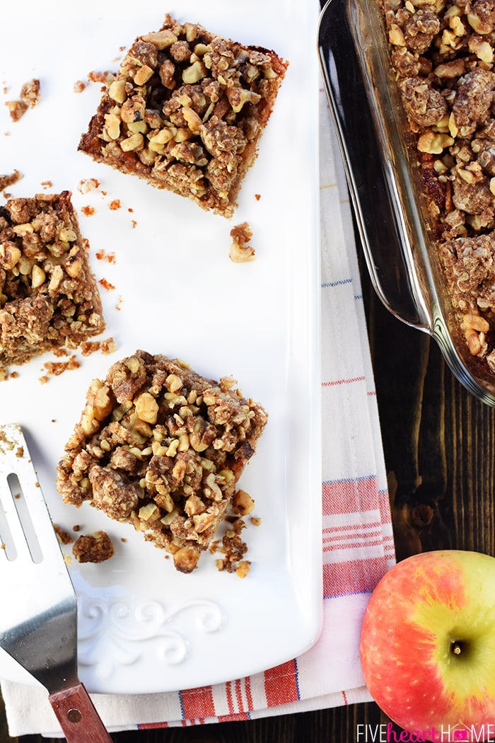 Apple Butter Oatmeal Breakfast Bars