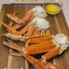 Instant Pot Crab Legs with butter
