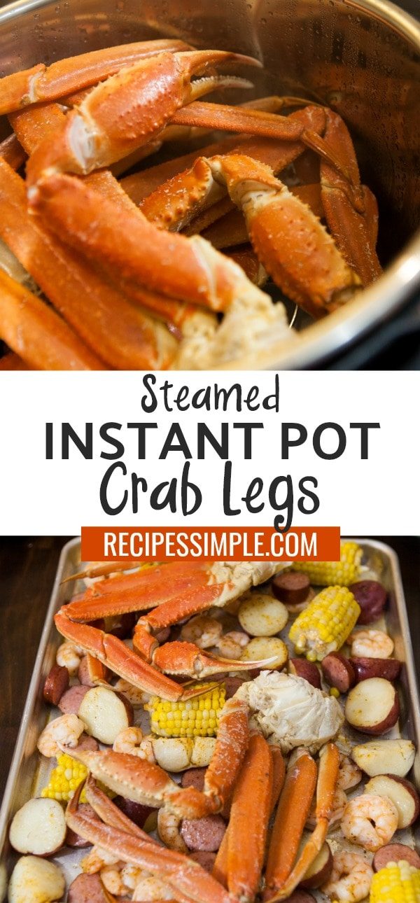 Steamed Instant Pot Crab Legs