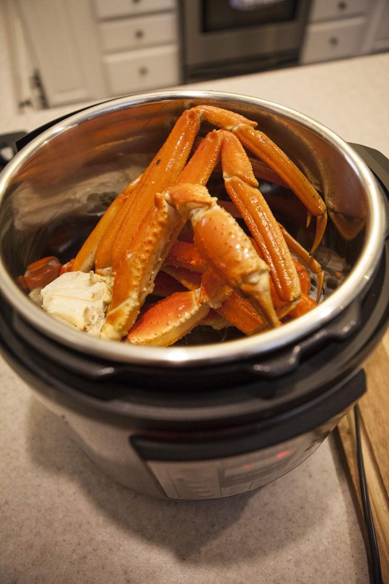 Uncooked Crab Legs in Instant Pot