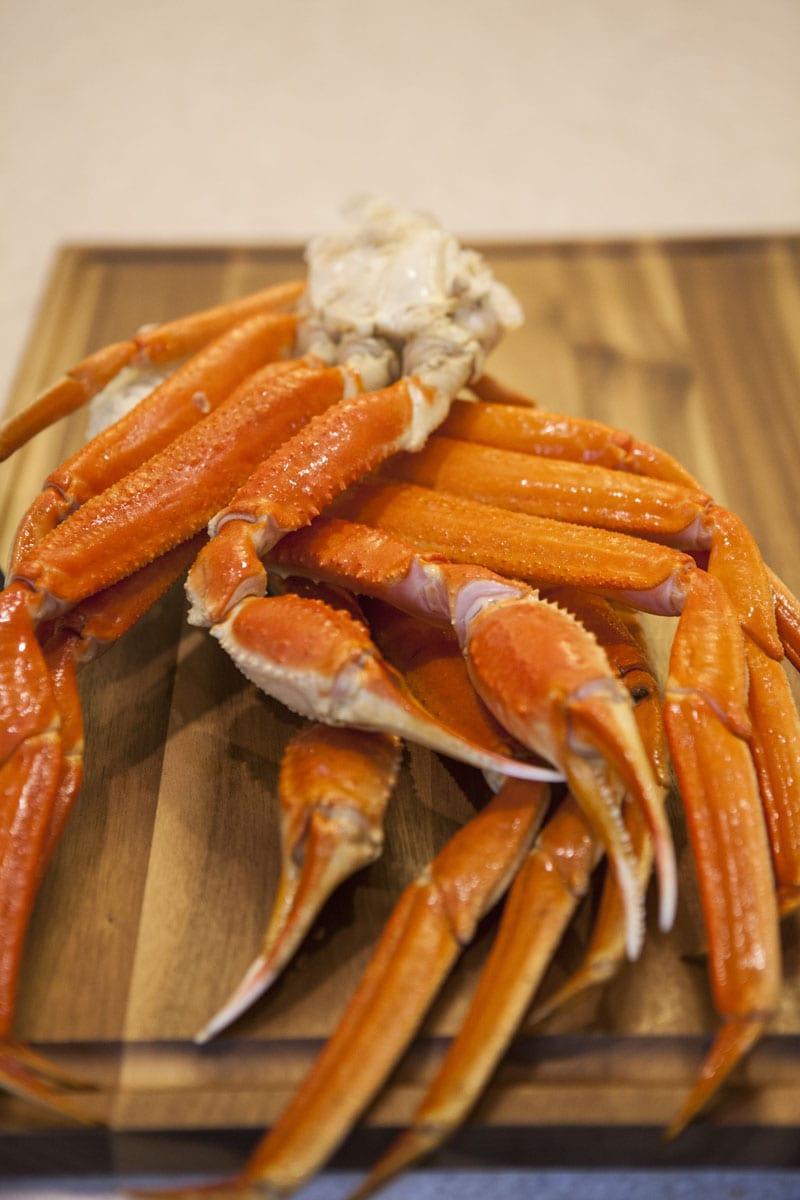 Crab legs uncooked