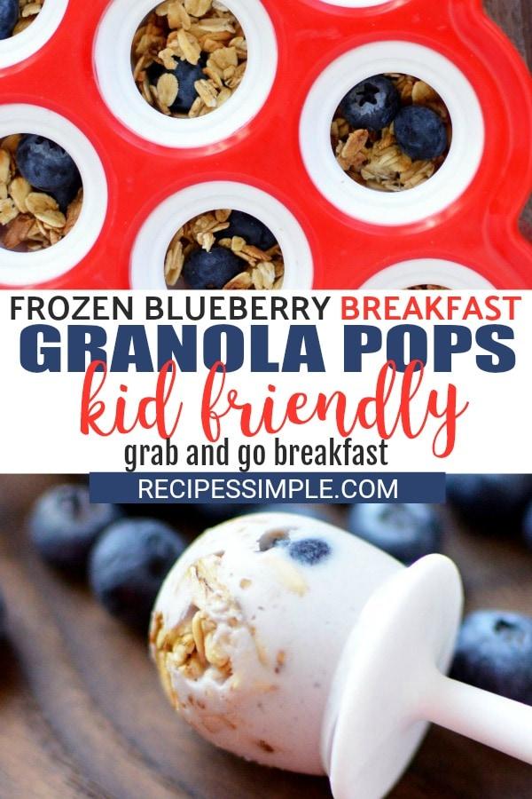 Breakfast Blueberry Granola Pops