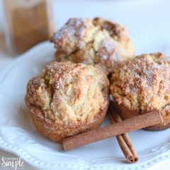 Cinnamon Cream Cheese Muffins on plate