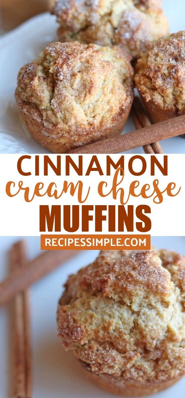 Cinnamon Cream Cheese Muffins Pinterest