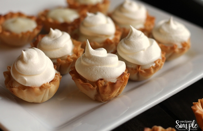 Key Lime Pie Tarts on plate