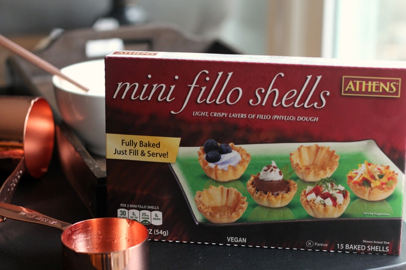 Key Lime Mini Tarts fillo shells