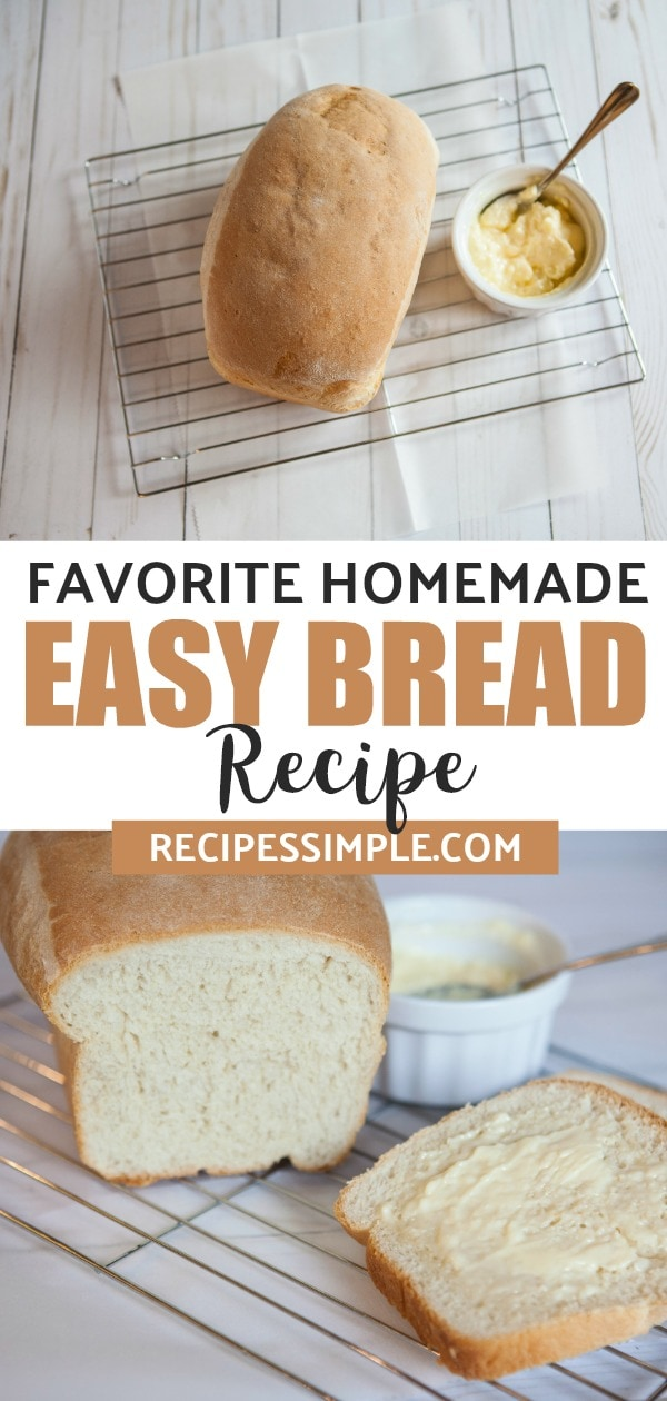This homemade bread recipe is light and fluffy and uses basic ingredients to make.