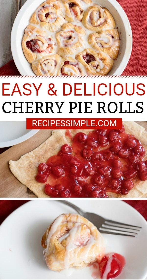 Cherry Pie Cinnamon Rolls