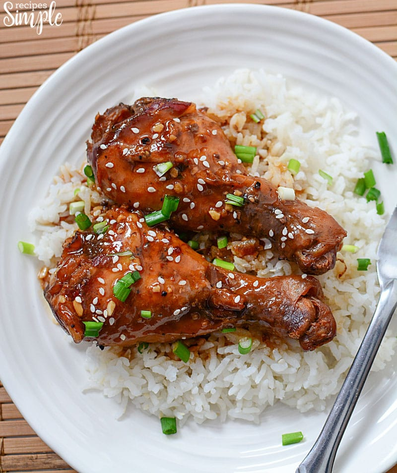 Slow Cooker Honey Garlic Chicken Legs