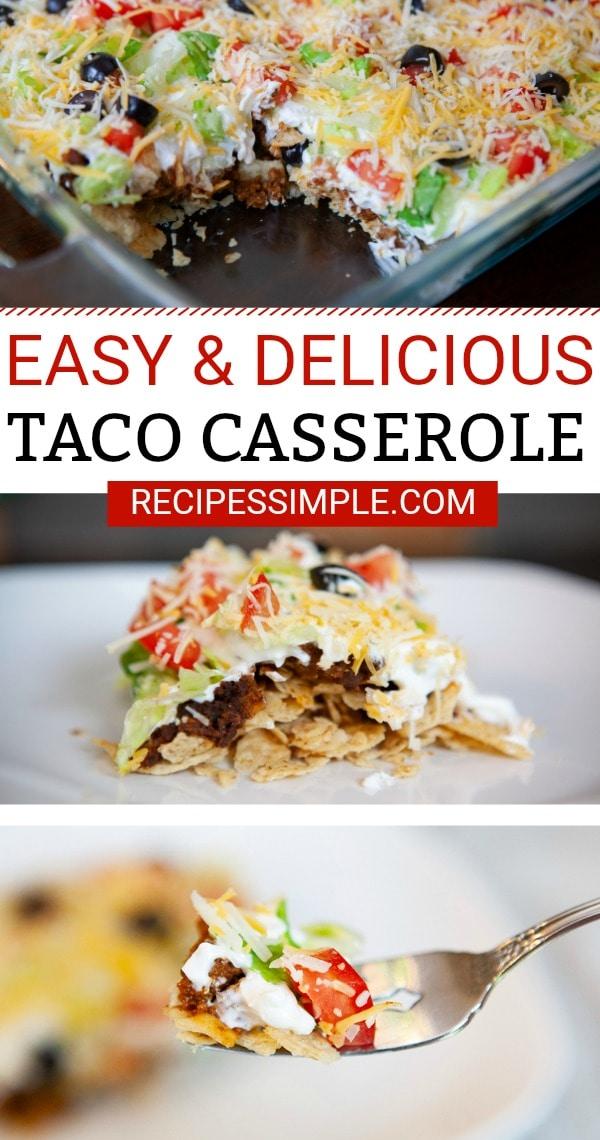 Easy Taco Casserole Bake