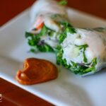 Shrimp Salad rolls with microgreens