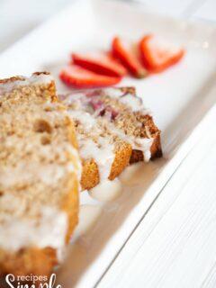 glazed strawberry bread