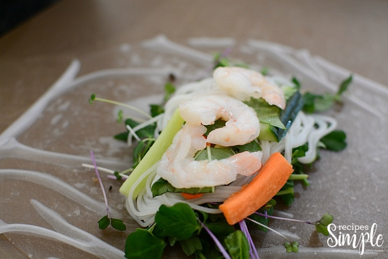 Shrimp salad process