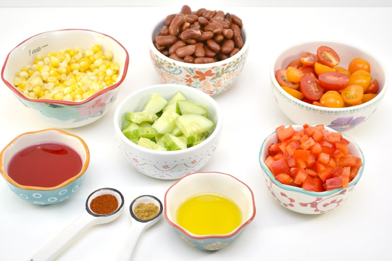 Bean Salad with Chili Vinaigrette Ingredients