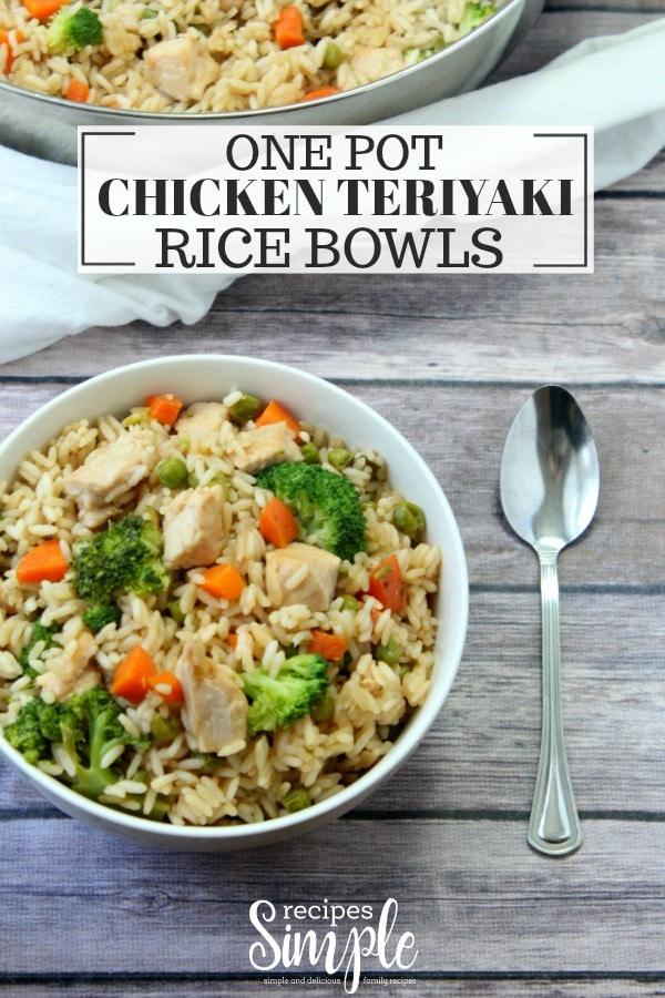 Chicken Teriyaki Rice Bowls Recipe