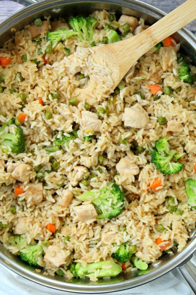 Chicken Teriyaki Rice Stovetop Pan