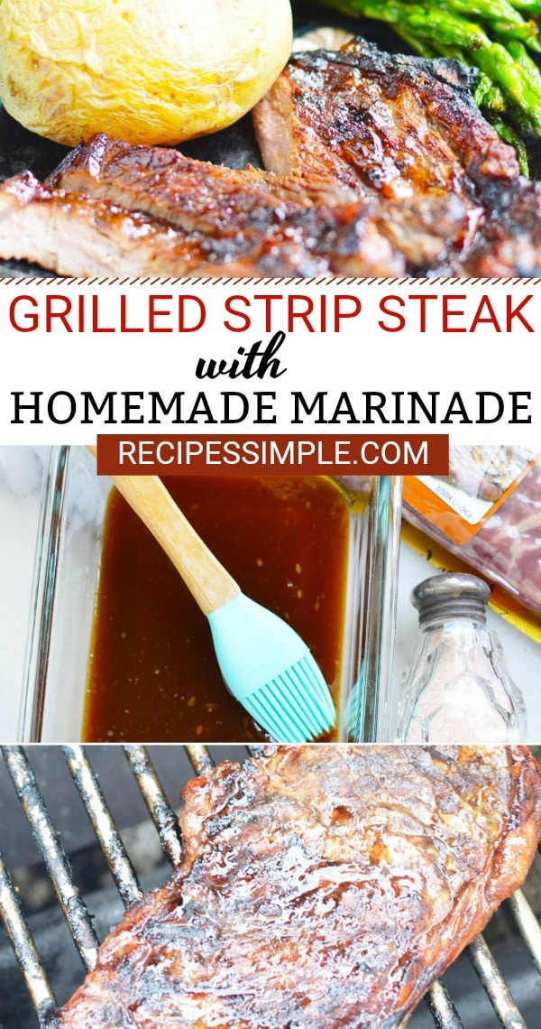 Grilled Steak with Homemade Marinade