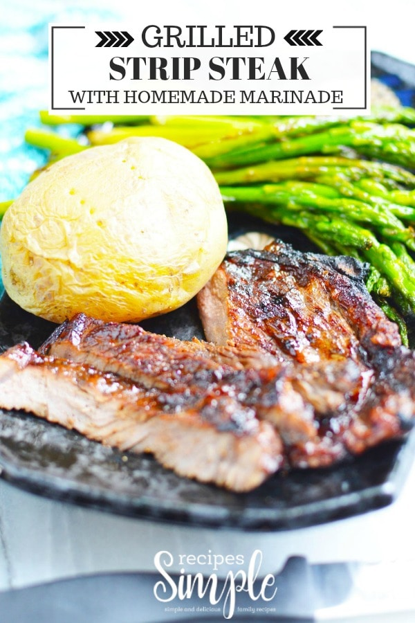 Grilled Strip Steak Recipe