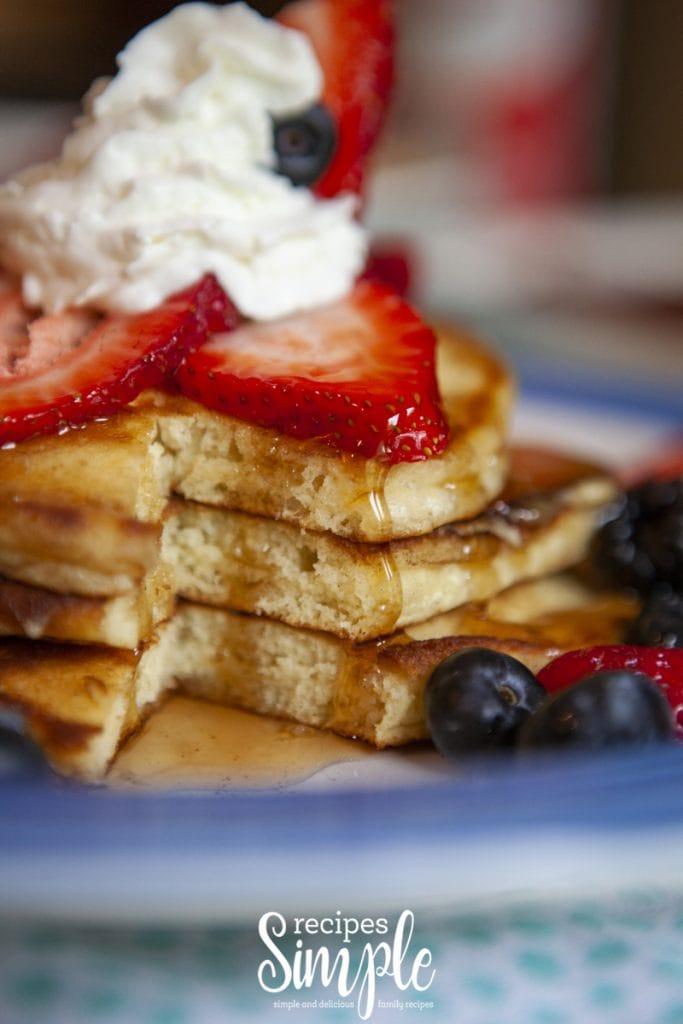 Homemade Mixed Berry Pancakes