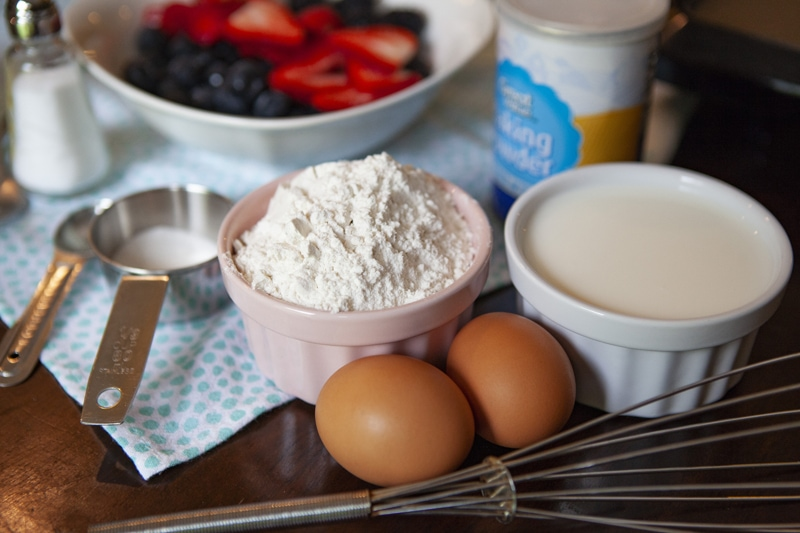 Mixed Berry Pancakes Ingredients