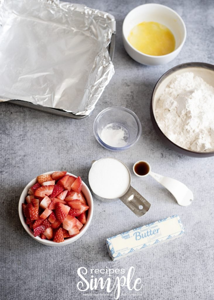 Strawberry Crumb Bars Ingredients