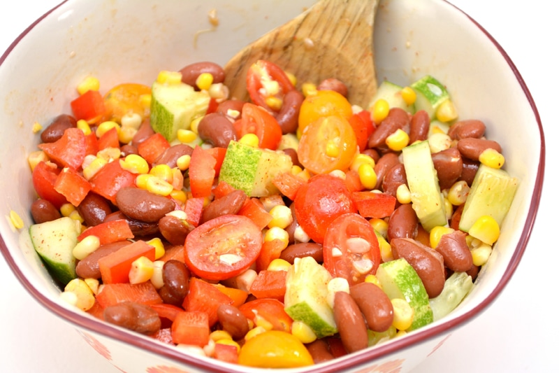 Summer Bean Vegetable Salad