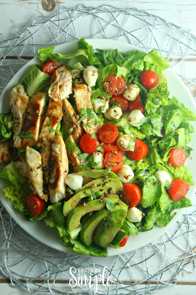 Chicken Avocado Caprese Salad Recipe