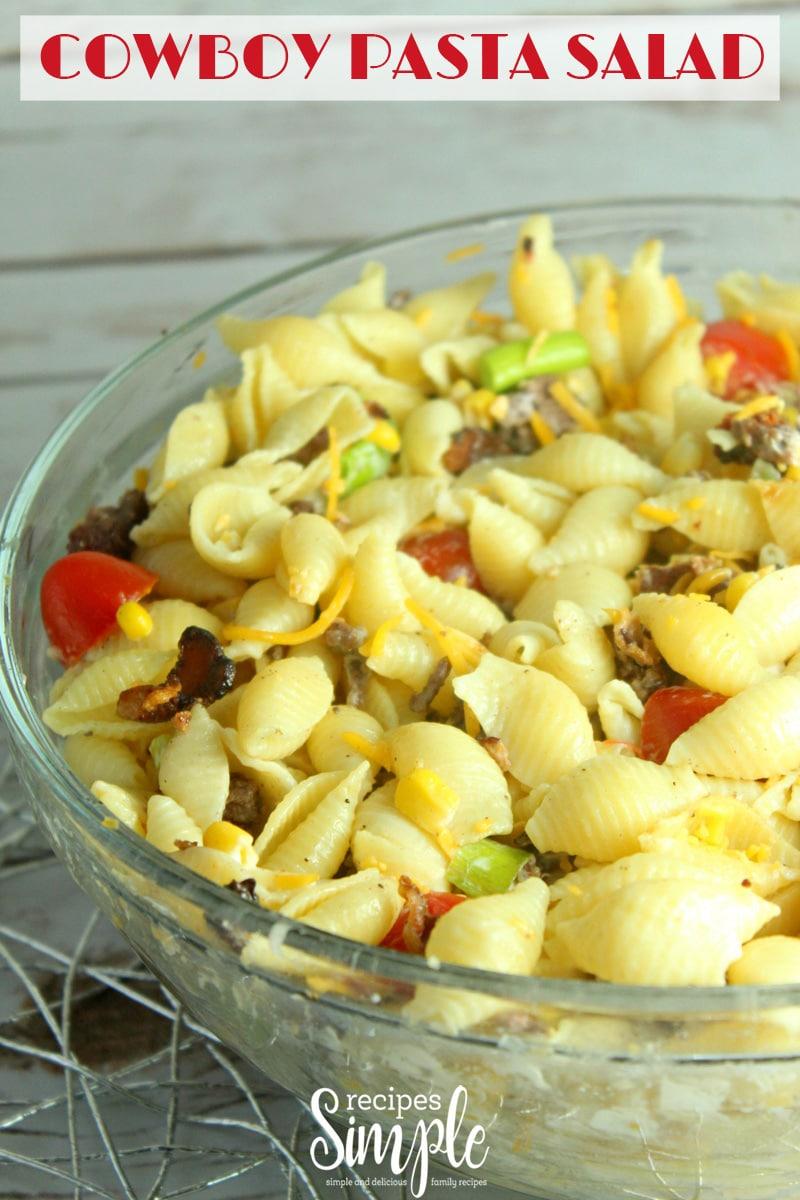 Easy Cowboy Pasta Salad