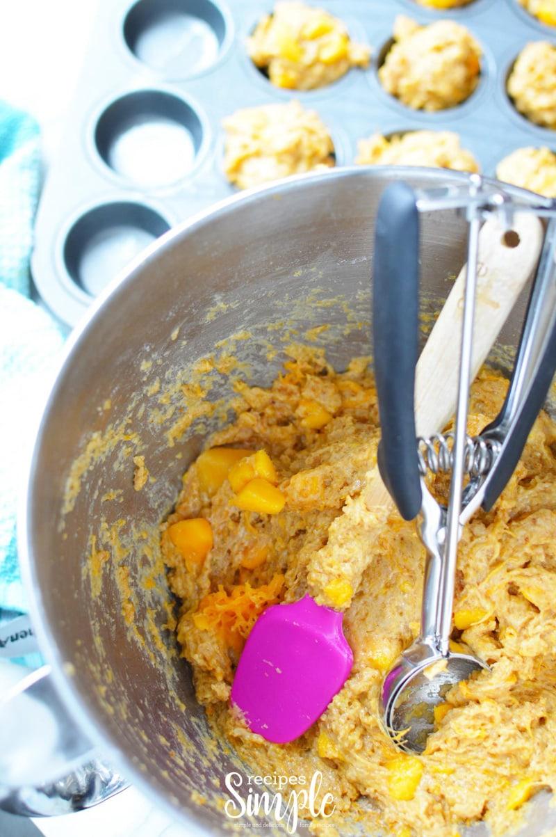 Mango Muffins Batter