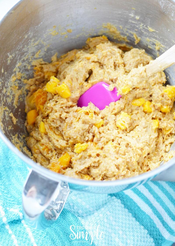 Mango Muffins Mixing Process