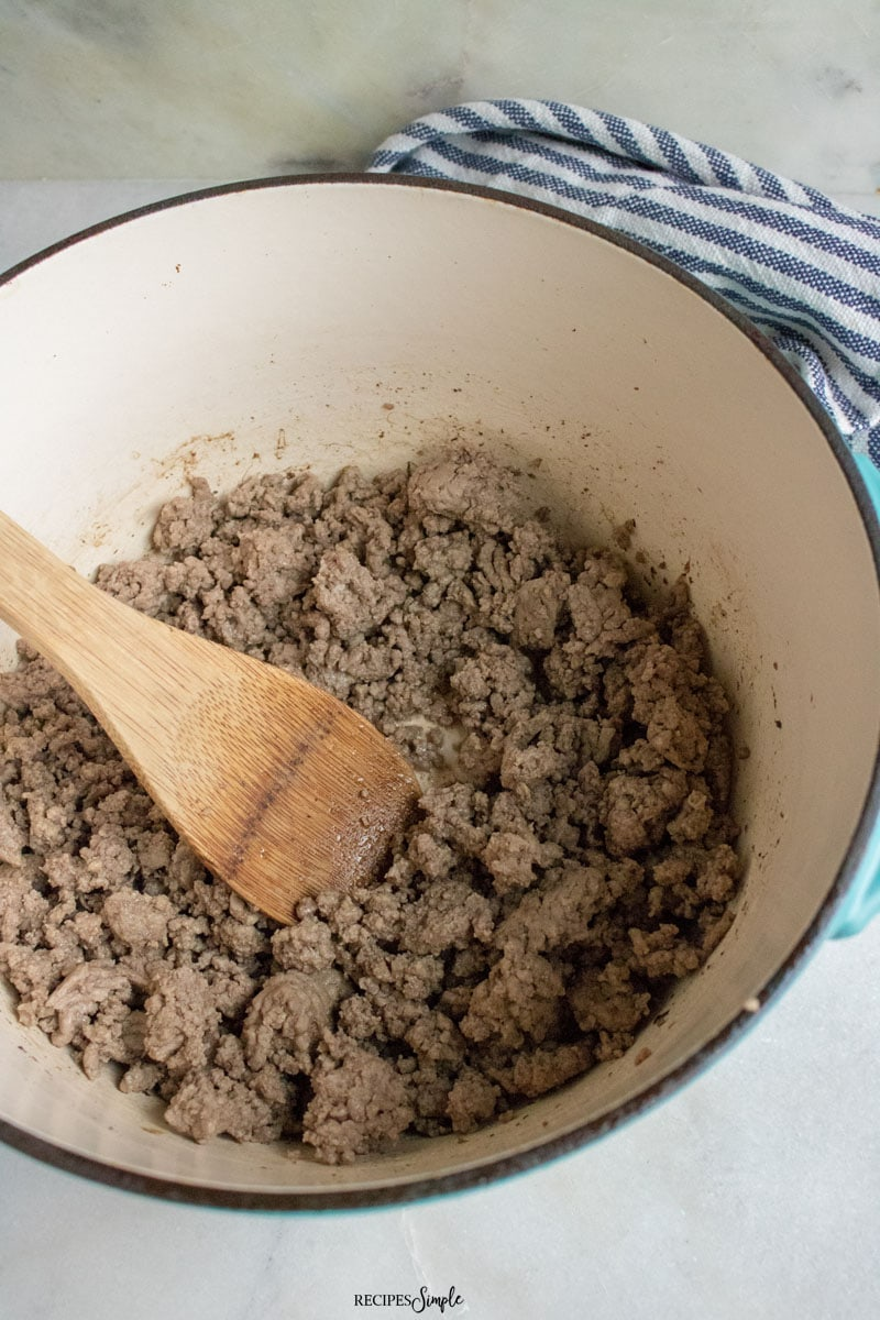 Browning Ground Beef For Tex Mex Soup