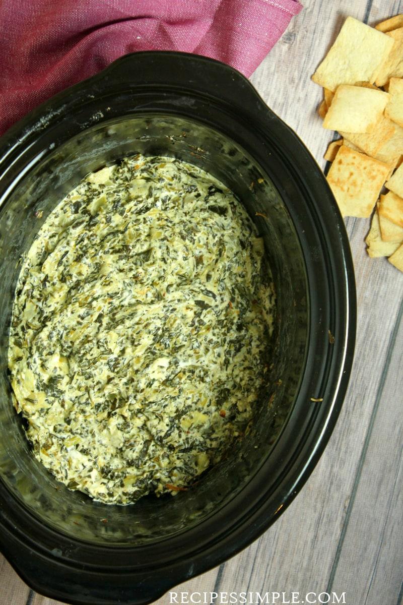 Slow Cooker Spinach Artichoke Dip