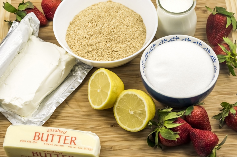 Strawberry Lemonade Mini Cheesecakes Ingredients