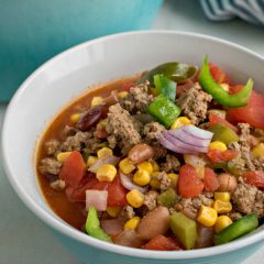 Tex Mex Hamburger Soup