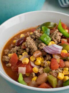 Tex Mex Hamburger Soup