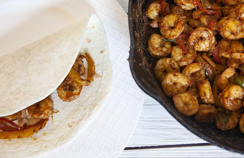 Easy Shrimp Fajitas recipe